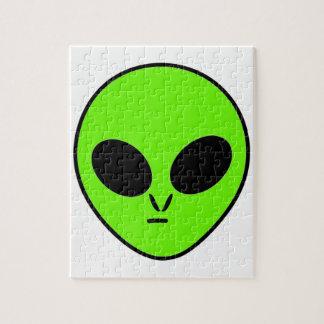 Green Alien Jigsaw Puzzle