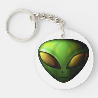 Green Alien Key Chain