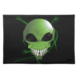 Green alien large place-mat cloth placemat