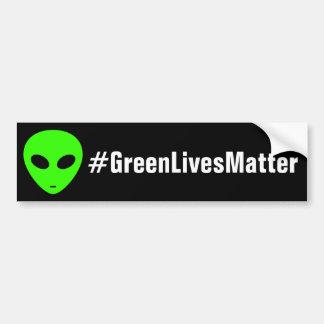 Green Alien Lives Matter Bumper Sticker