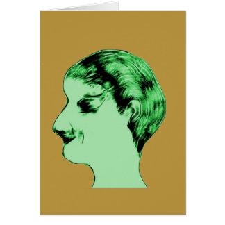 Green Alien Male Card