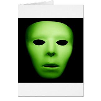 Green Alien Man jpg Greeting Card