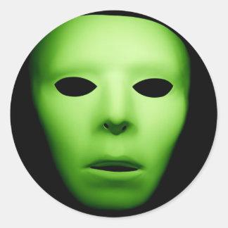 Green Alien Man.jpg Classic Round Sticker