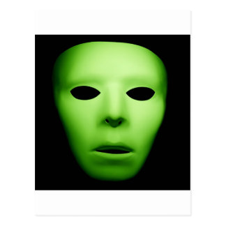 Green Alien Man.jpg Postcard