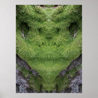 Green Alien Moss Poster