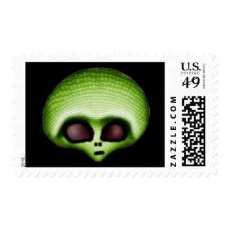 Green Alien Postage Stamps Postage Stamps