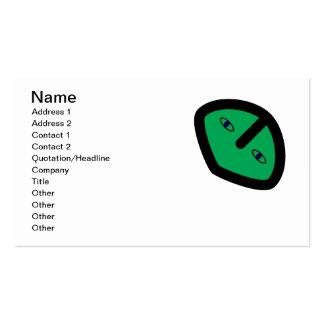 Green Alien style head Business Card
