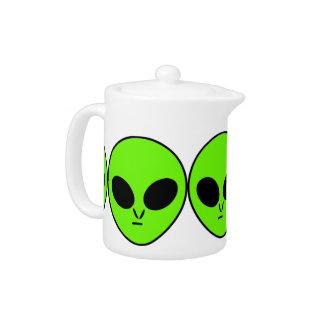Green Alien Teapot