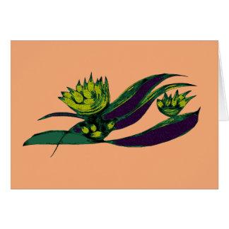 Green Alien Vegetable Card