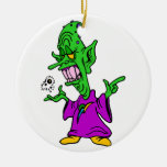 green alien wizard.png christmas ornament