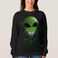 Green alien Women's Basic Sweatshirt