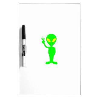 green alien writing board Dry-Erase boards