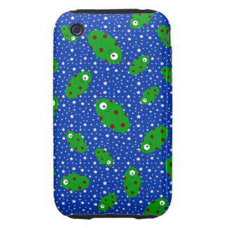 Green aliens blue stars tough iPhone 3 cases