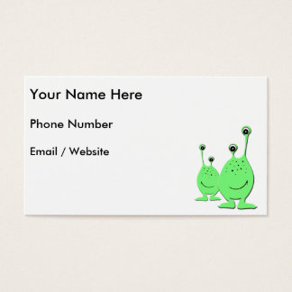 Green Aliens, UFO, Little Green Men Business Card