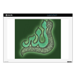 "Green Allah henna Decal For 17"" Laptop"