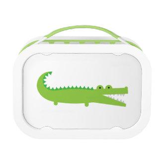 Green Alligator Kids School Lunch Box