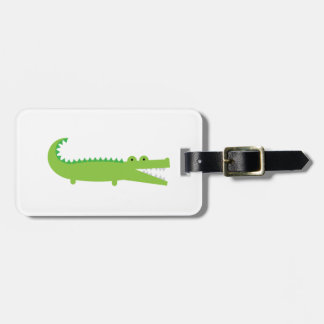 Green Alligator Luggage Tag