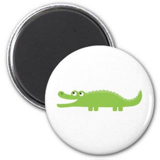Green Alligator 2 Inch Round Magnet