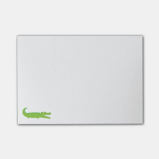 Green Alligator Post-it Notes
