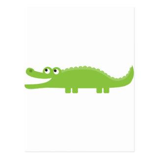 Green Alligator Postcard