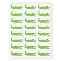 Green Alligator Temporary Tattoos