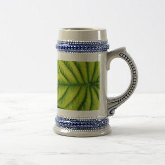 Green Alocasia Cuprea Leaves Hawaii Island Beer Stein