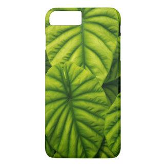 Green Alocasia Cuprea Leaves Hawaii Island iPhone 8 Plus/7 Plus Case