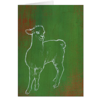 Green Alpaca Cards