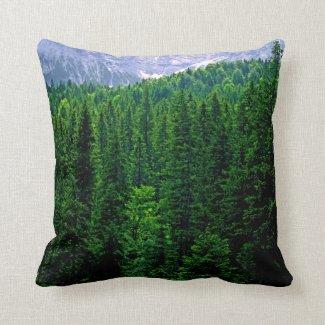 Green Alpine Forest Bavaria Pillow