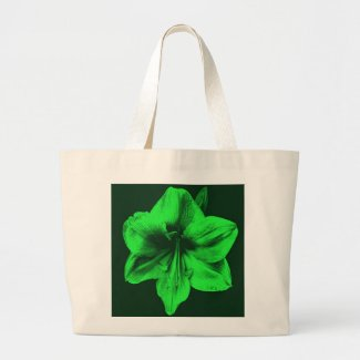 Green Amaryllis zazzle_bag