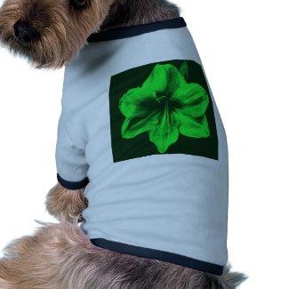 Green Amaryllis zazzle_petshirt