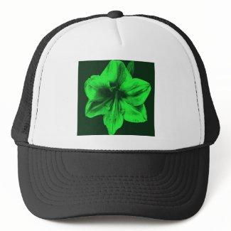 Green Amaryllis zazzle_hat