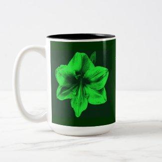 Green Amaryllis Mother's Day zazzle_mug
