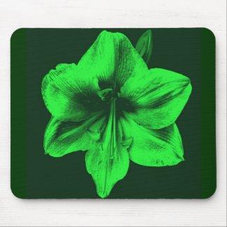 Green Amaryllis zazzle_mousepad