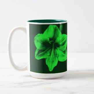 Green Amaryllis zazzle_mug