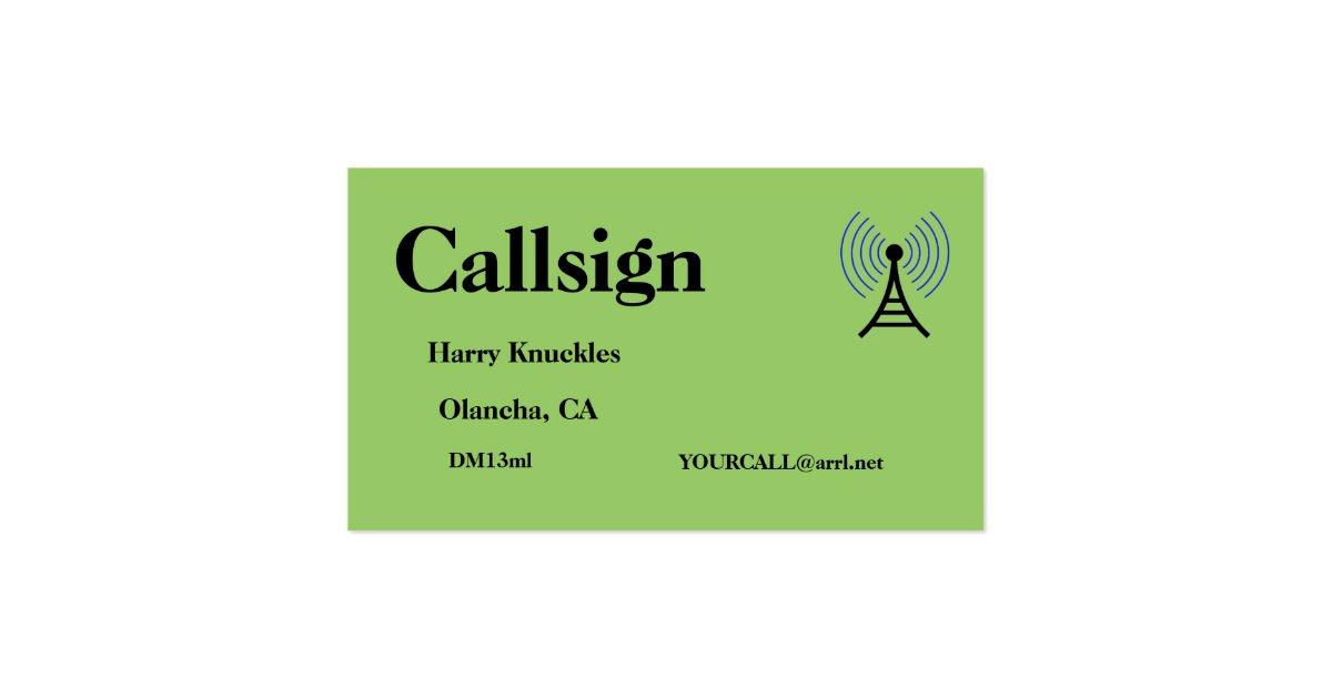 amateur radio business card holder