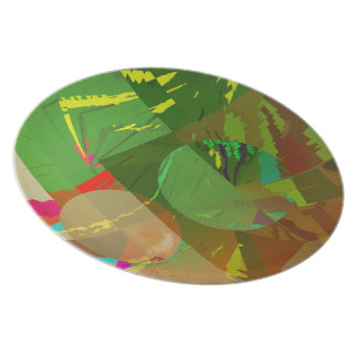 Green Amazon Abstract Dinner Plate
