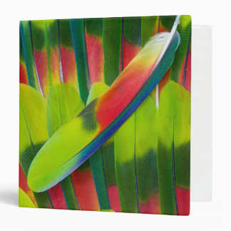 Green amazon parrot feathers 3 ring binder