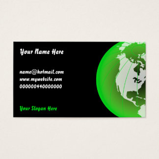 Green America Globe, Your Name Here, Business Card