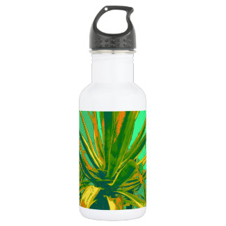 Green American Agave cacti by Sharles 18oz Water Bottle
