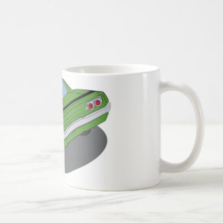 Green american muscle car coffee mug