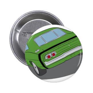 Green american muscle car pins