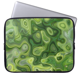Green Amoeba Pattern Abstract Art Computer Sleeve