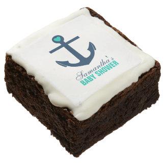 Green Anchor Nautical Theme Brownie