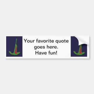 Green Anchor - Navy Blue Bumper Sticker