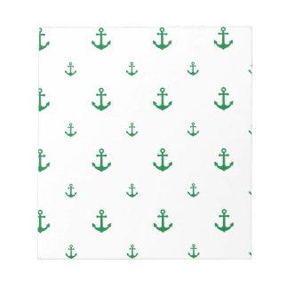 Green Anchor Notepad