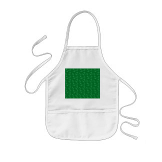 Green anchor pattern kids' apron