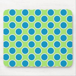 Green and Aqua Dots Mouse Pad