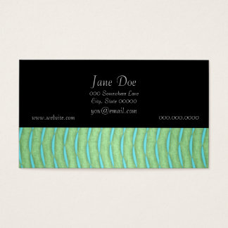 Green and Aquamarine Turquoise Pattern Business Card