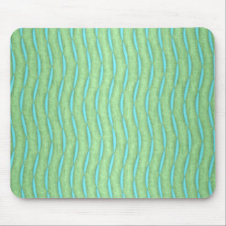 Green and Aquamarine Turquoise Pattern Mouse Pad